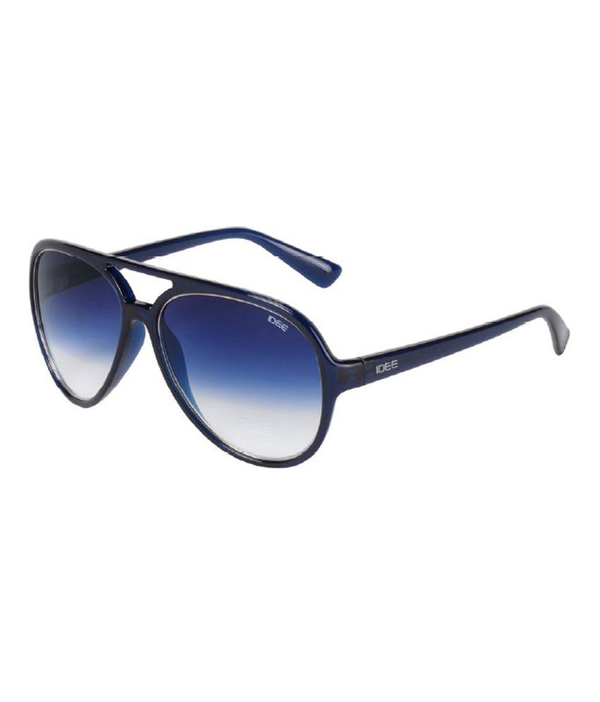Idee S1939 c4 Blue Large Aviator Sunglass