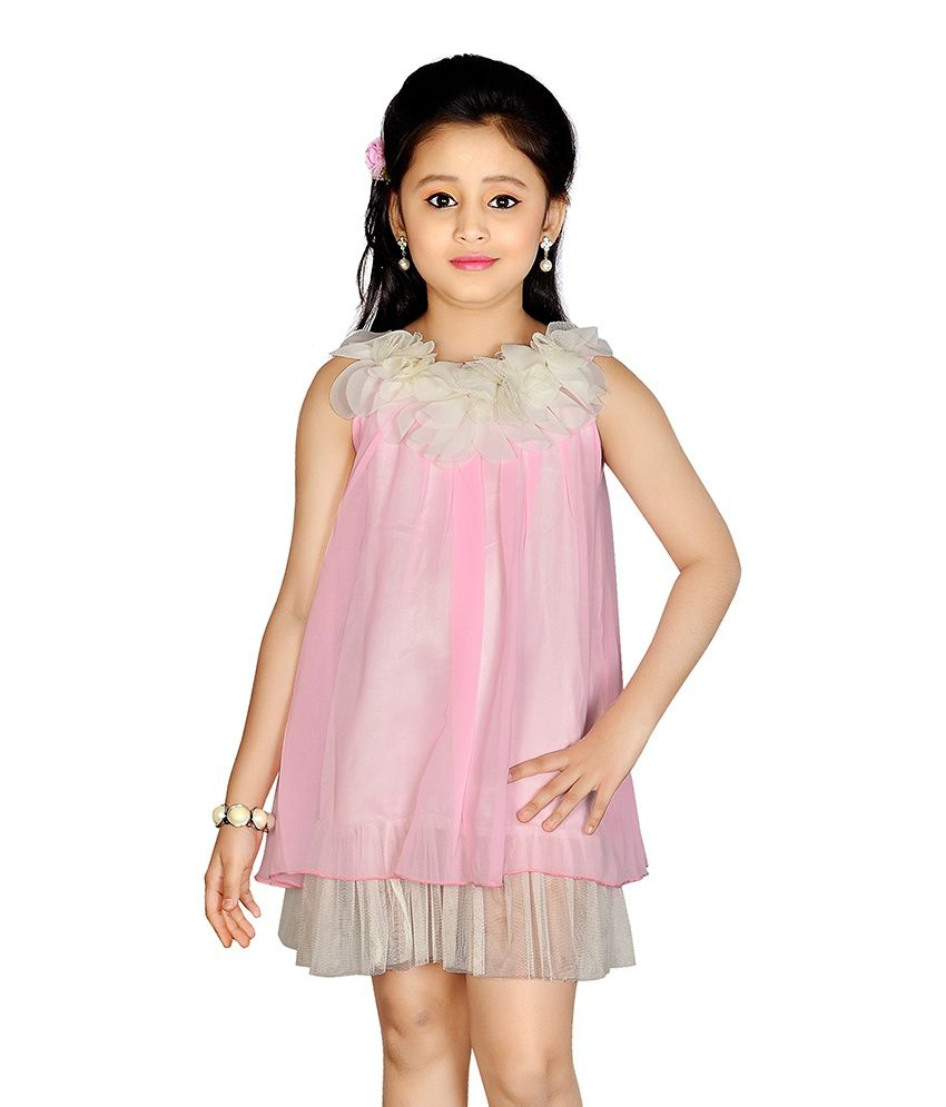 Jazzup Pink Party Wear Dress