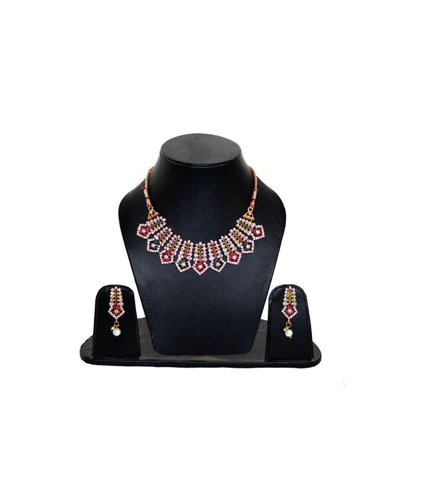 Natraj Art Traditional Brass Necklace Set