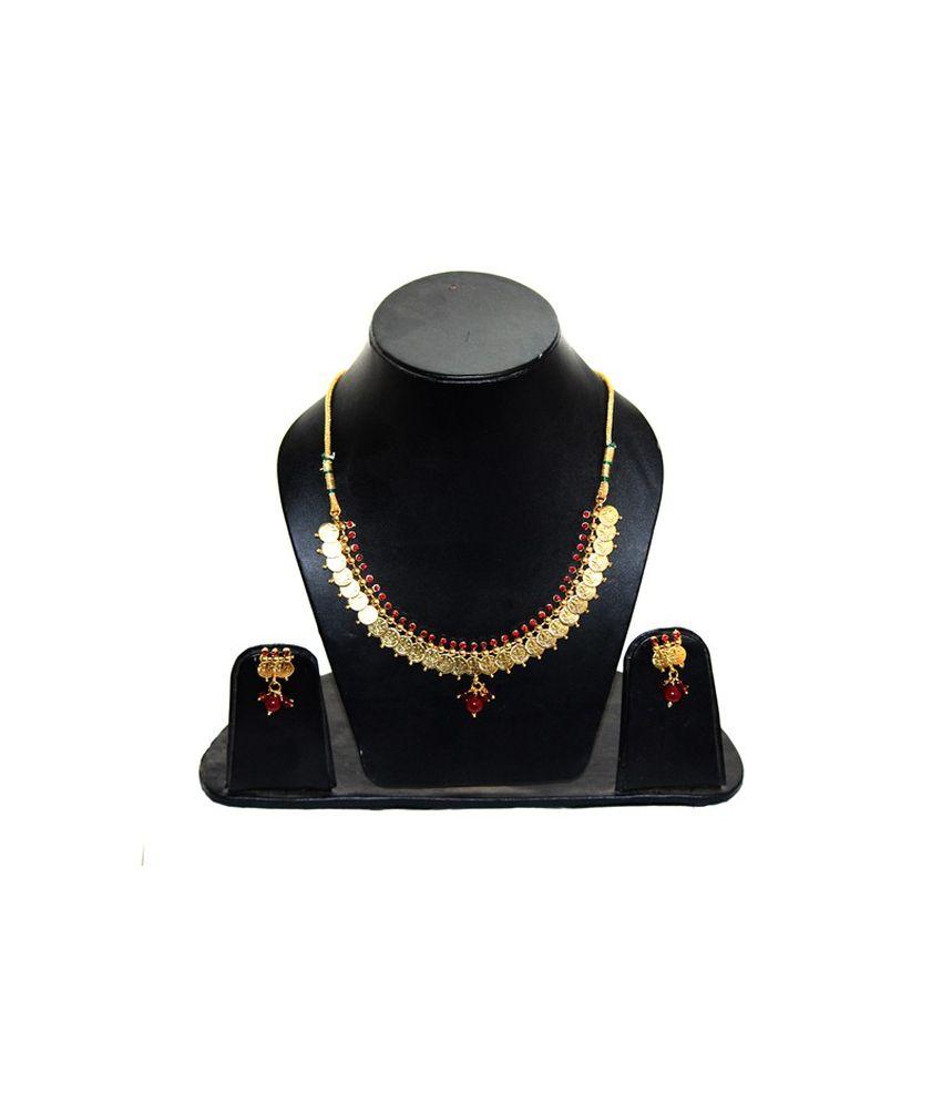 Natraj Art Traditional Copper Necklace Set