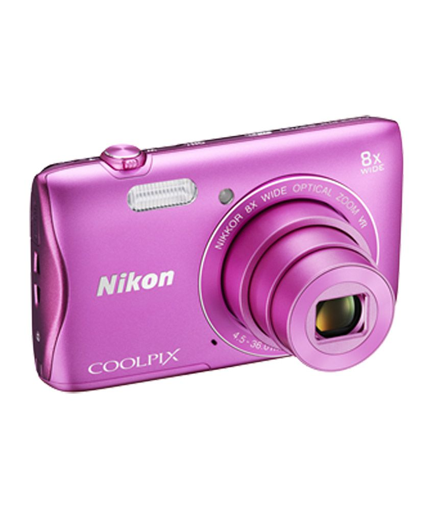 Nikon Coolpix S3700 20.1MP Digital Camera (Pink) Price in