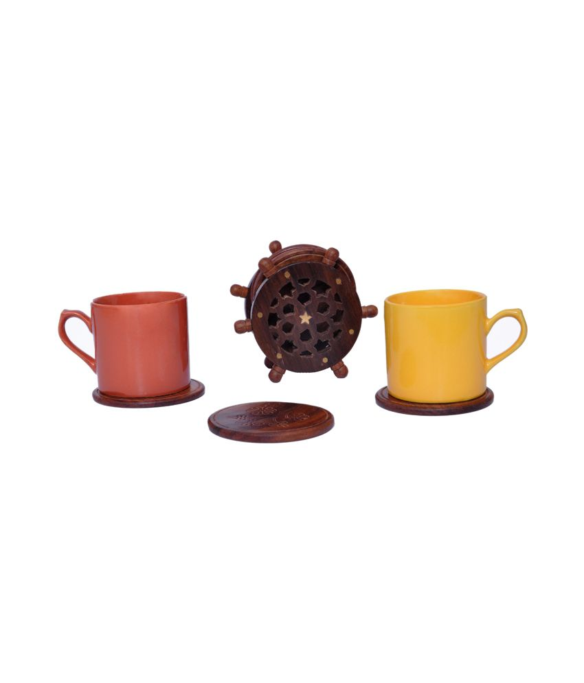 Woodenclave Helm Drink Coaster Set Buy Online At Best