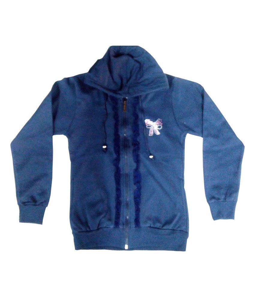 Kothari Navy Cotton Full Sleeve Padded Jackets