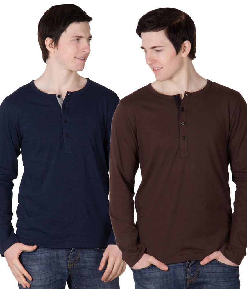 Rigo Cotton T Shirt for Men (Combo of 2)