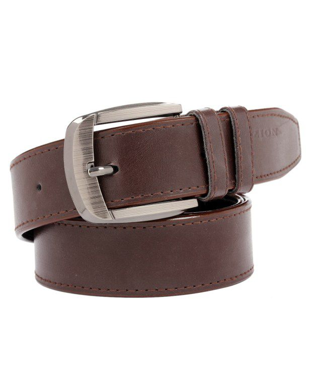 Tryzion Men Exclusive Brown Shine Belt With Wallet And Watch Combo