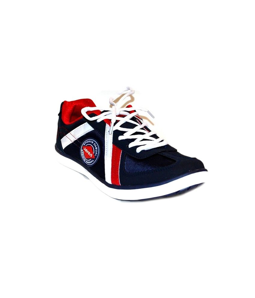Addoxy Blue and Red Sports Shoes - Buy
