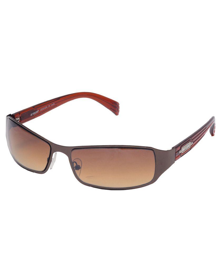 Enetram Brown CR Lens Non Metal Rectangle Sunglasses