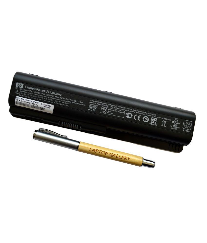 HP Genuine Original Laptop Battery For Pavilion Dv5-1250en With Clean India Wooden Pen
