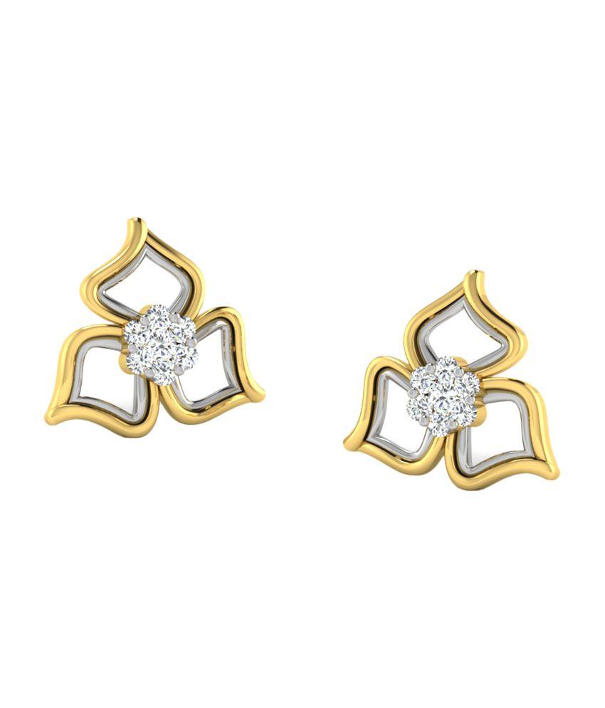 Sparkles 0.14 Ct Diamond Earrings in 18kt Gold T50108