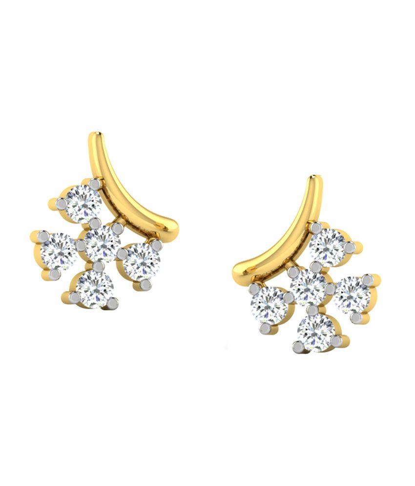 Sparkles 0.53 Ct Diamond Earrings in 18kt Gold T10547