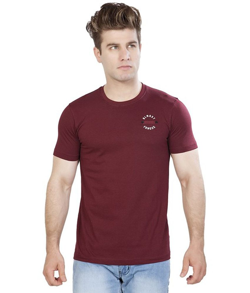 Maniac Multicolour Cotton Blend Half Sleeves Printed Henley T Shirt