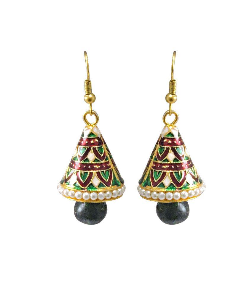 Trinket Gems Colour Spark Multi Alloy Jhumkis