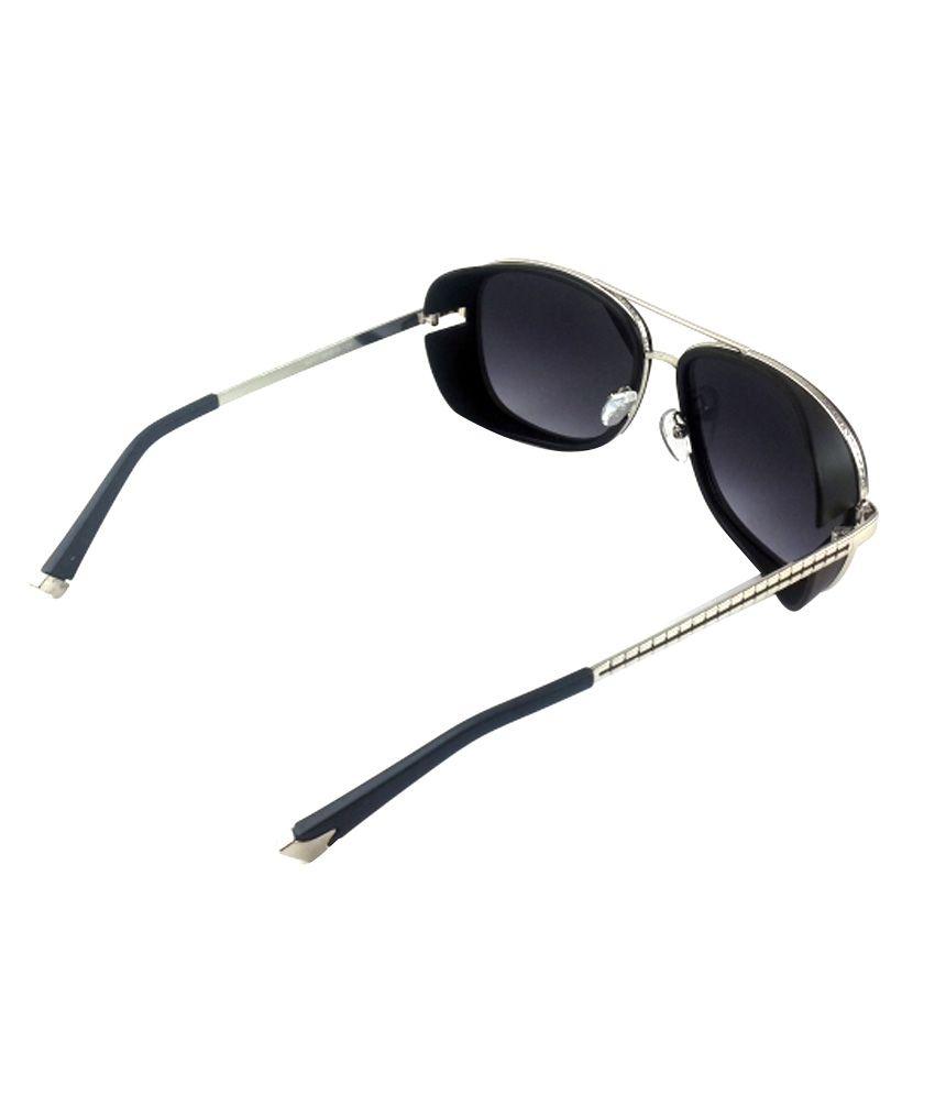 273e25c9d3796 Helen Keller Black Side Cap 028 Square Sunglass - Buy Helen Keller ...