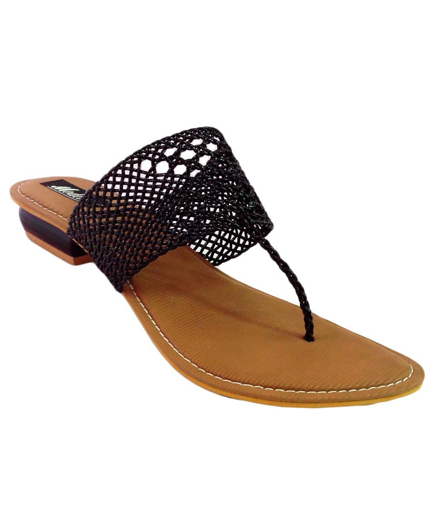 ShoeCentre Black Flat Slip On