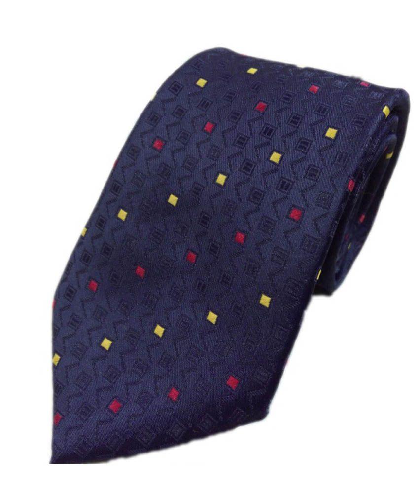 Blacksmithh Classic Navy Blue Dots Tie