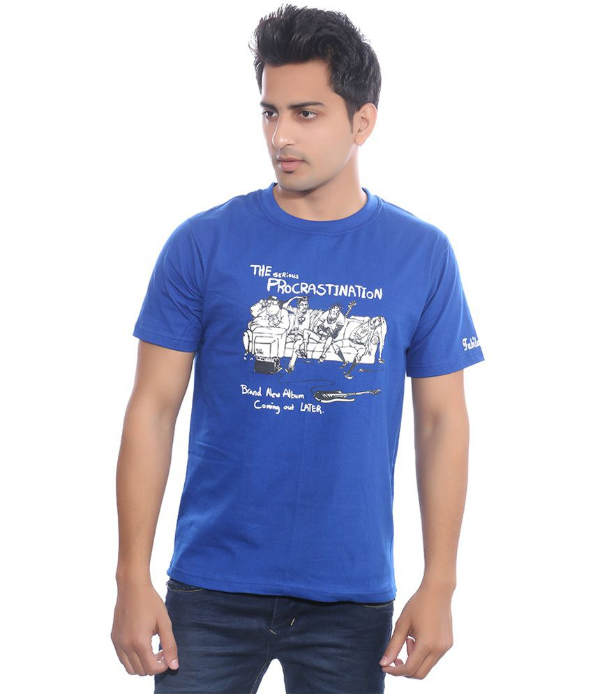 Fabilano Blue Cotton T-Shirt