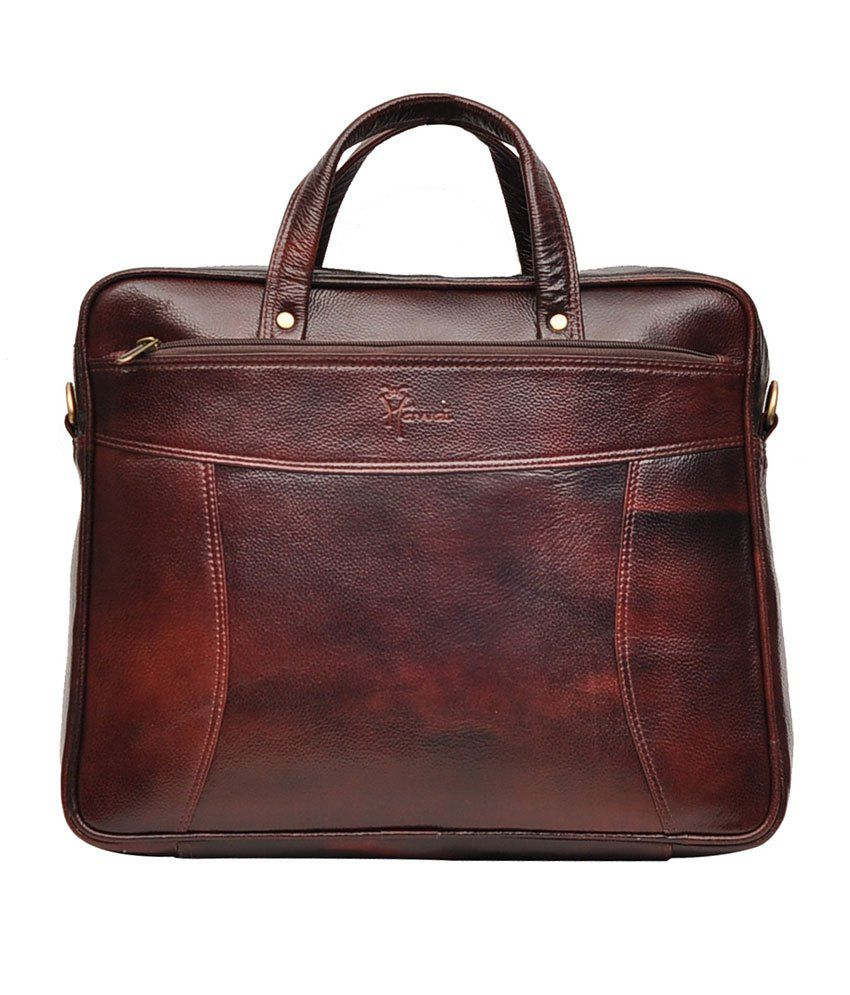 Hawai Leather Mini Brown Laptop Bag