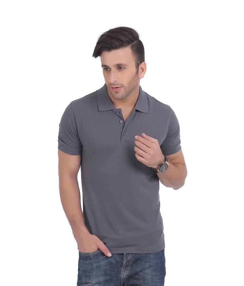 Knit & Knot Gray Cotton T-Shirt