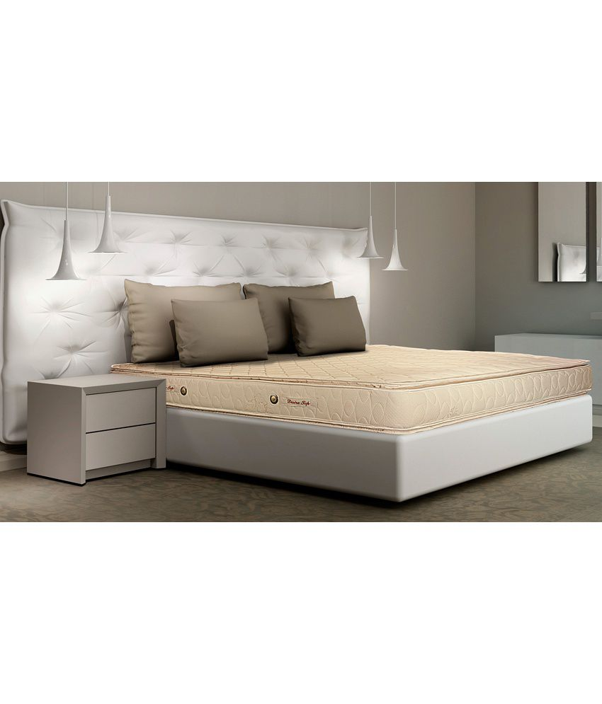 kurlon desire pillow top 6inch queen size spring mattress 72x60x6 - Spring Mattress