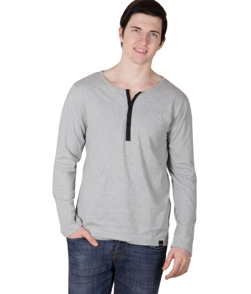 Rigo Grey Cotton T Shirt