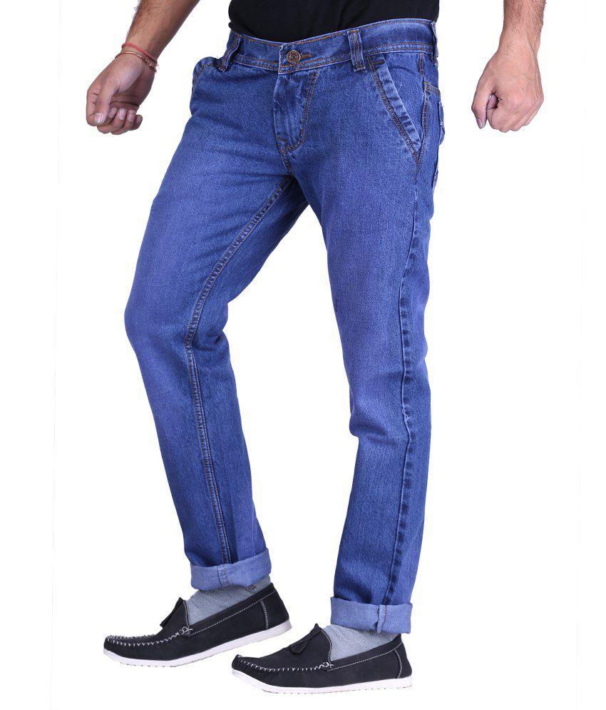 X-Cross Cotton Blue Stretchable Jeans