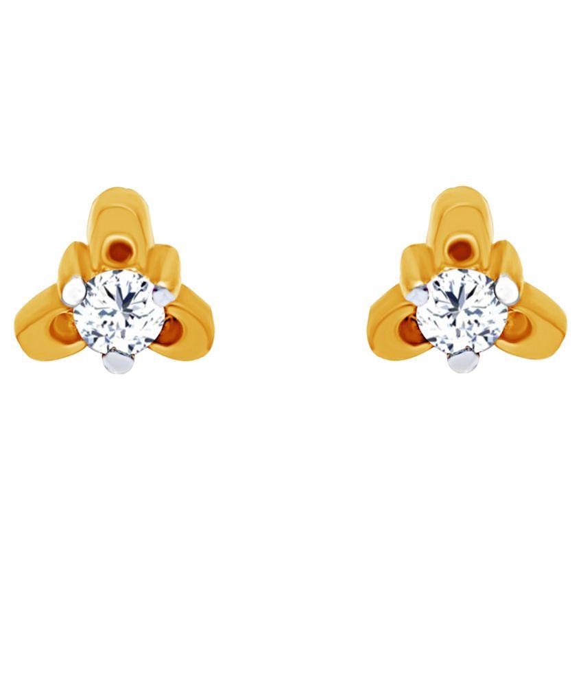 Jacknjewel Gold 14Kt Diamond Earrings