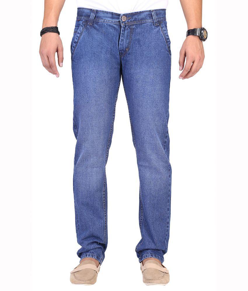 K-SAN Blue Cotton Strechable Jeans