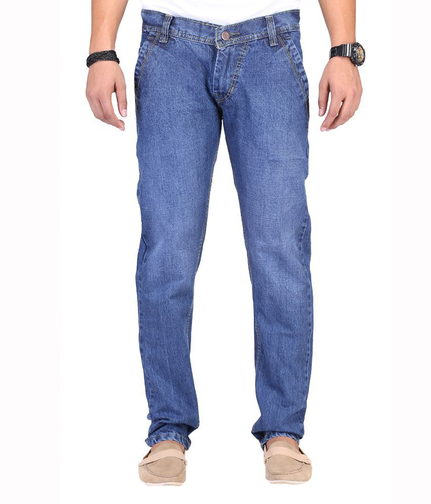 K-SAN Blue Cotton Strechable Jeans