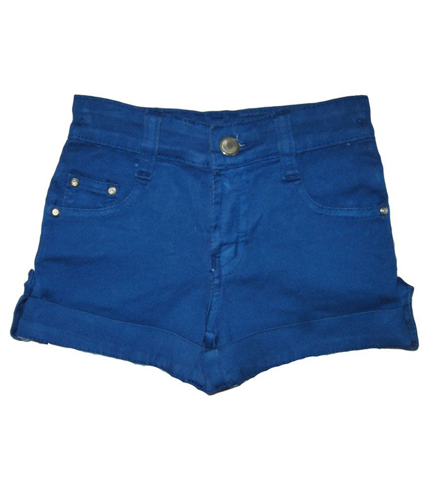 Kandy Kids Blue Cotton Shorts