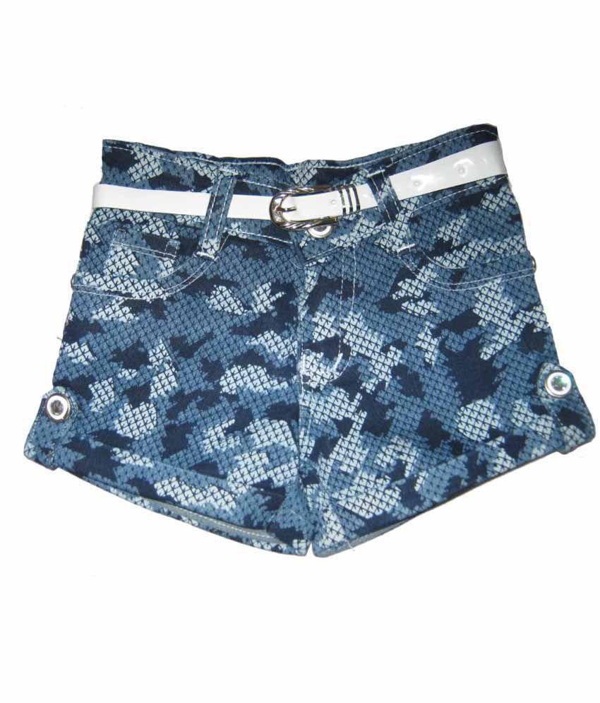 Kandy Kids Blue Cotton Shorts