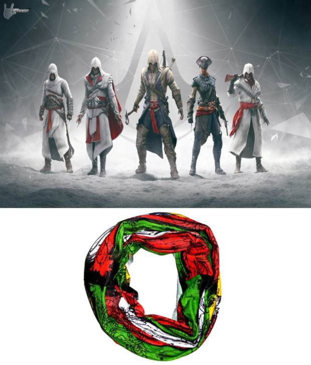 Lycans Green And Red Head Wrap And Laptop Skin Combo