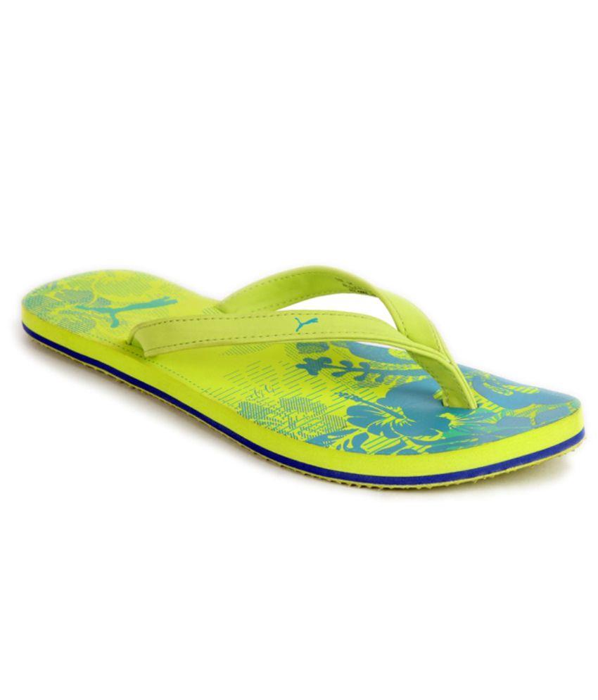 Puma Trendy Green Flip Flops
