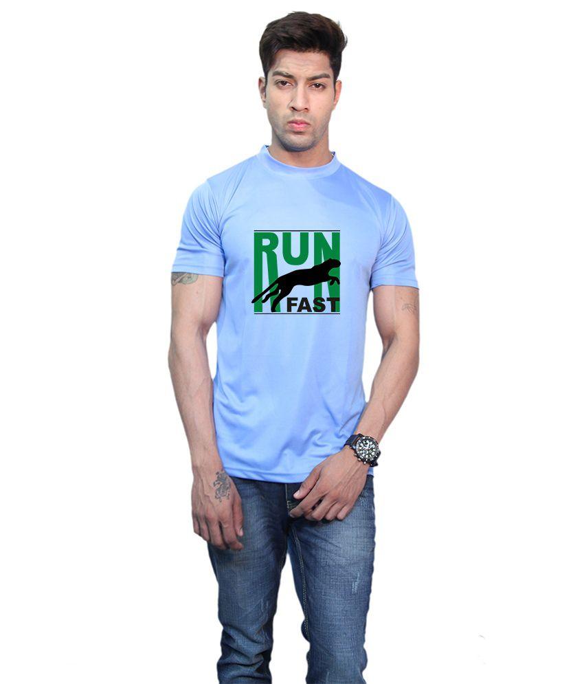 Printland Effit Run Fast Blue T Shirt