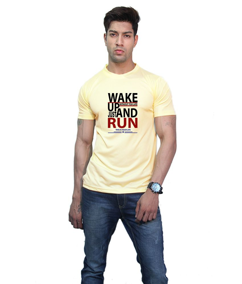 Printland Effit Up & Down Yellow T Shirt