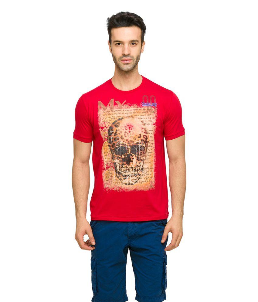 Status Quo Men's Red Coloured Casual T-Shirt