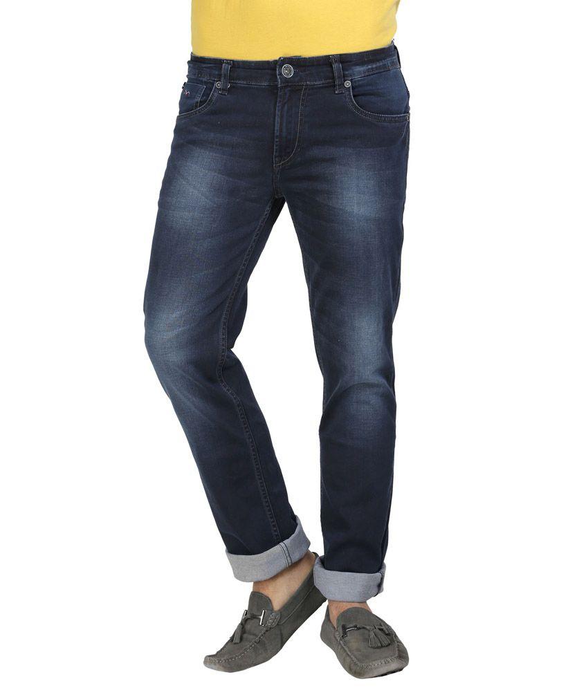 Wert Slim Fit Blue Denim Jeans for Men