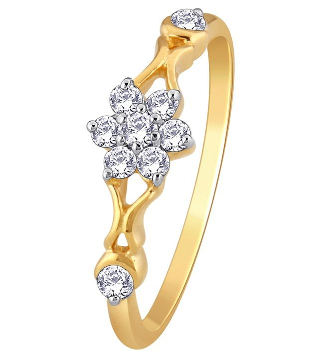 My Zevar Blumen 18kt Diamond Gold Ring