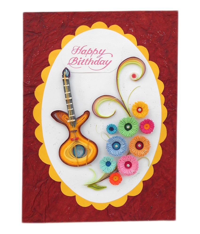 Swapnil Arts Handmade Quilled Happy Birthday Greeting Card Buy – Birthday Card Buy Online