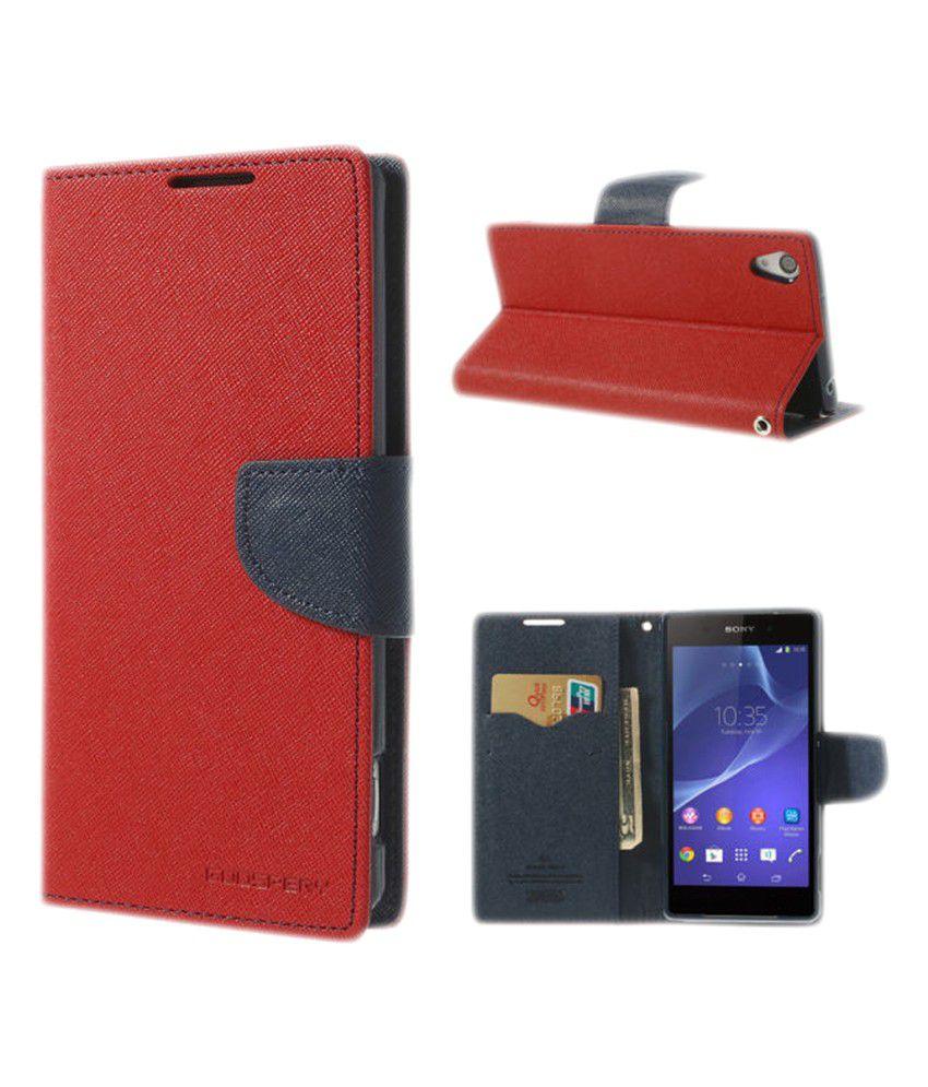 online store dabcc 04a8c Mercury Goospery Flip Cover Case for LG L90 Dual D410/D415 - Red