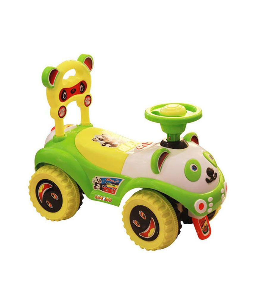 Baby bed online flipkart - Panda Green High Grade Plastic Baby Sliding Dream Rider Toy Car