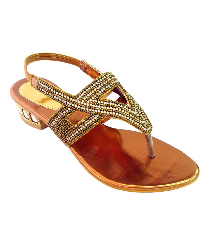 Shoe Centre Brown Medium Heel Women's Ethnic Wear