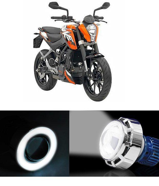 speedwav led projector light with angel eye white ktm duke 200 rh snapdeal com