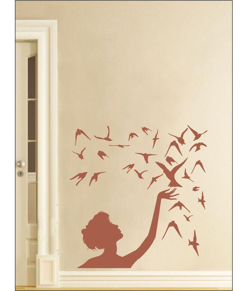 wall1ders free bird brown stickers large buy wall1ders