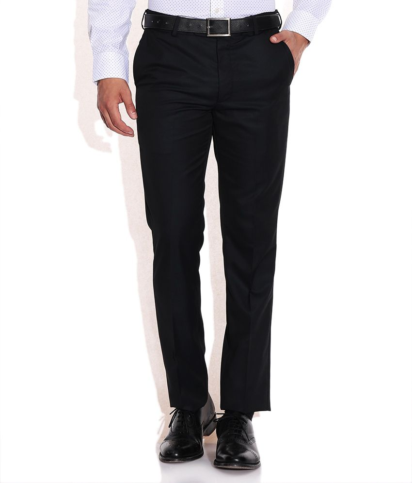 Arrow Navy Tapered Fit Formal Trouser