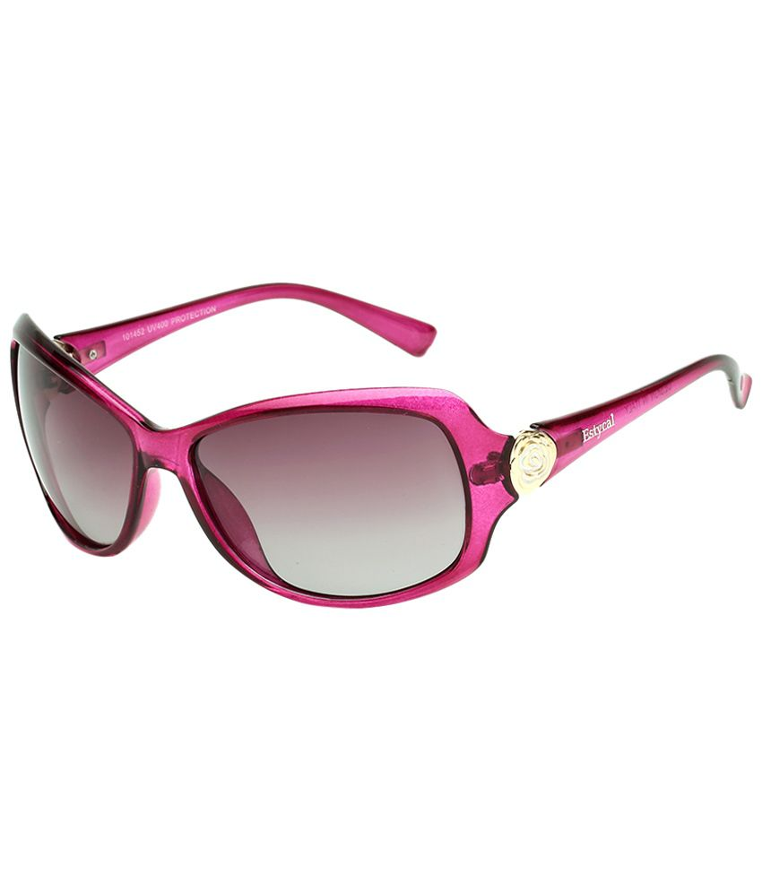 6846882d7aa6 Estycal Pink & Brown Wrap Around Sunglasses For Women - Buy Estycal Pink &  Brown Wrap Around Sunglasses For Women Online at Low Price - Snapdeal