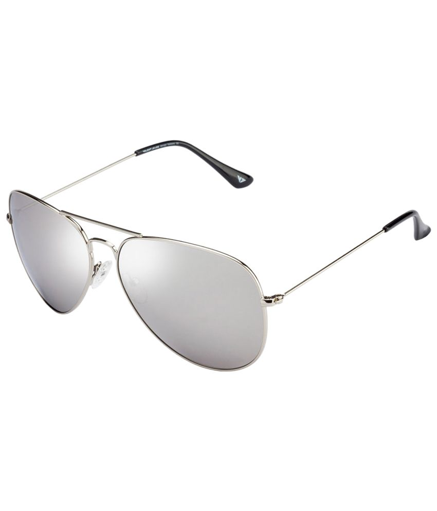 Vincent Chase Fancy Silver & Gray Aviator Sunglasses