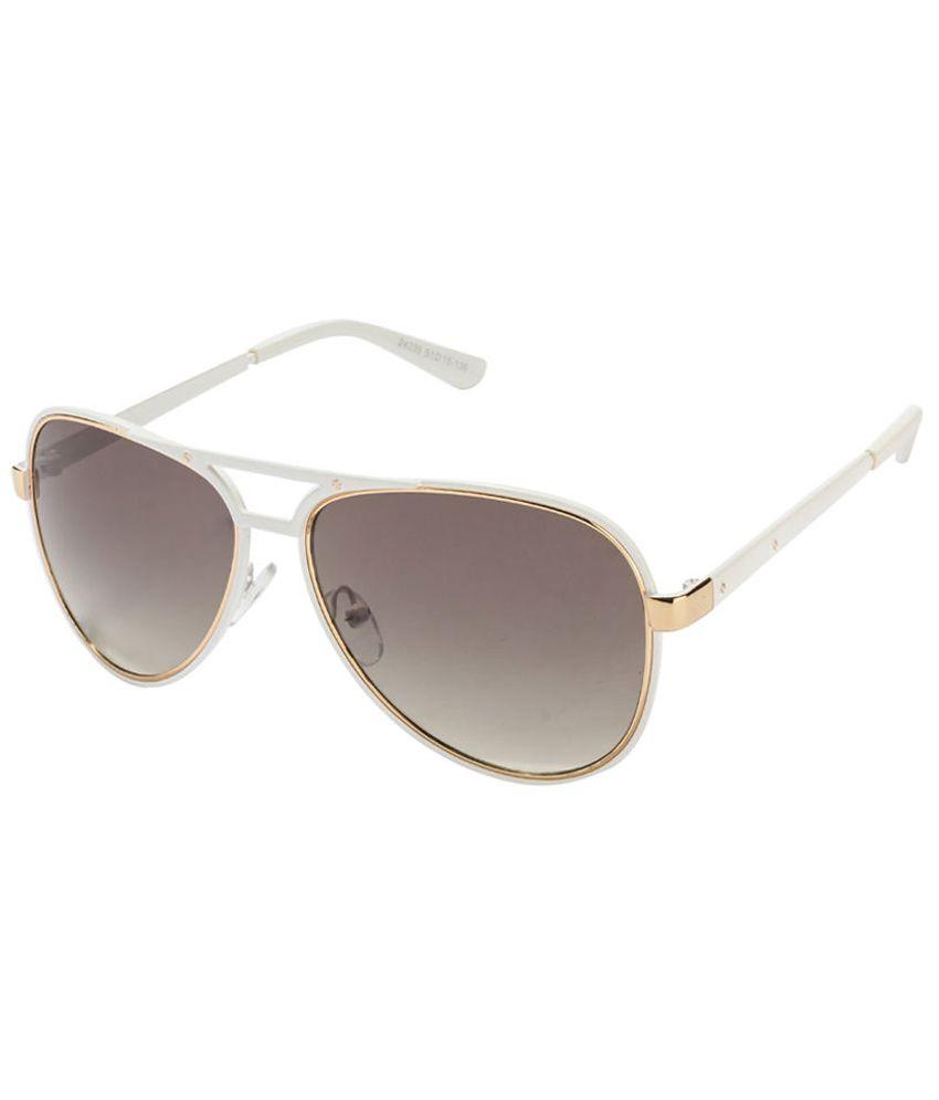 Vincent Chase Gray & Golden Aviator Sunglasses