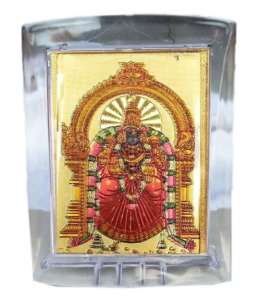 Gold Art 4 U Gold Foil Padmavathi God Image With Frame