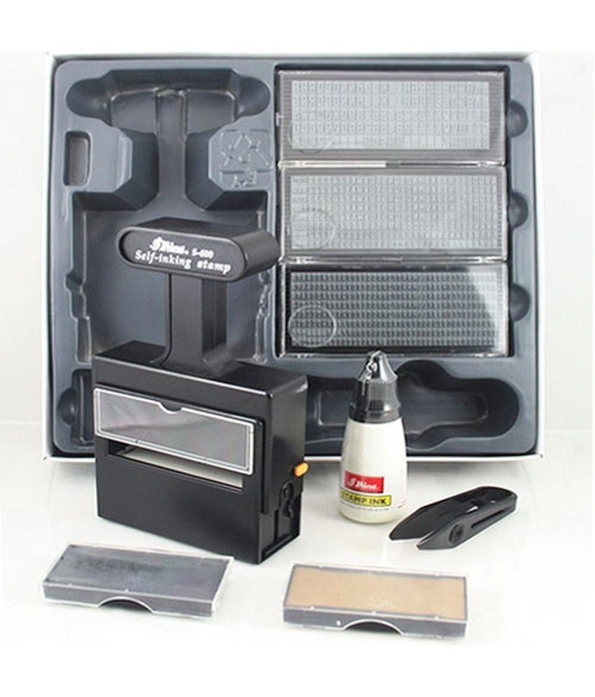 Shiny S 600 Rubber Stamp Self Inking Printing Kit Buy