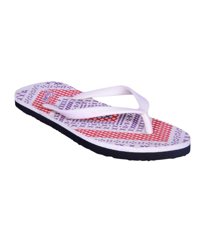 Fisher Red Synthetic Flip Flops